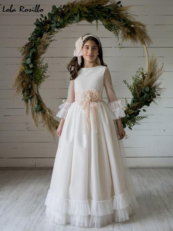 Vestido Comunión 2020 Lola Rosillo Mod Q453