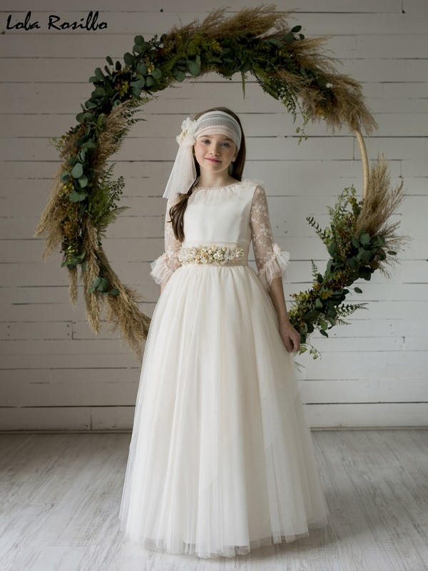 Vestido Comunión 2020 Lola Rosillo Mod Q460
