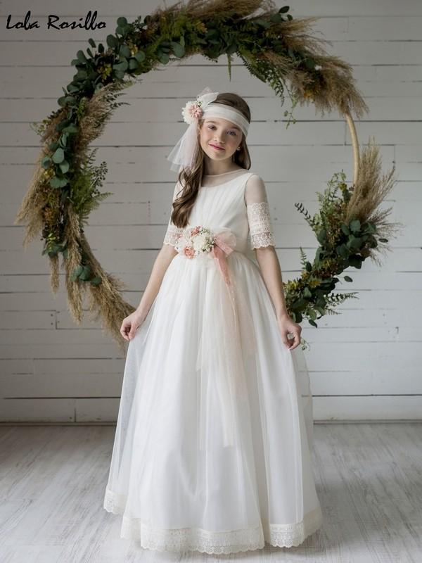 Vestido Comunión 2020 Lola Rosillo Mod Q467