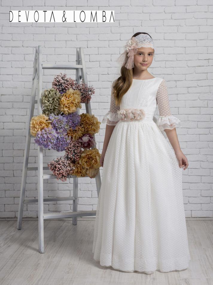 Vestido Comunión 2020 Devota & Lomba modelo K320 1