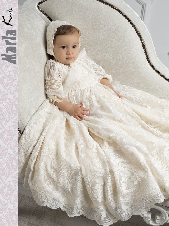 Vestido de bautismo para bebe. Marla M208 1