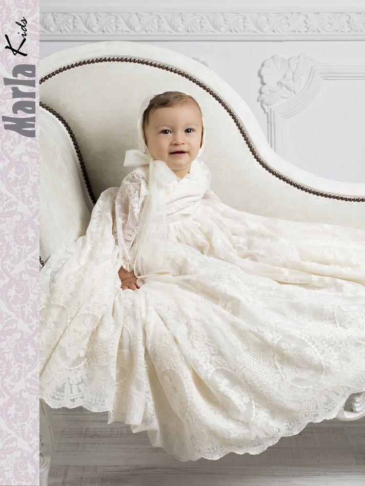 Vestido de bautismo para bebe. Marla M209 1
