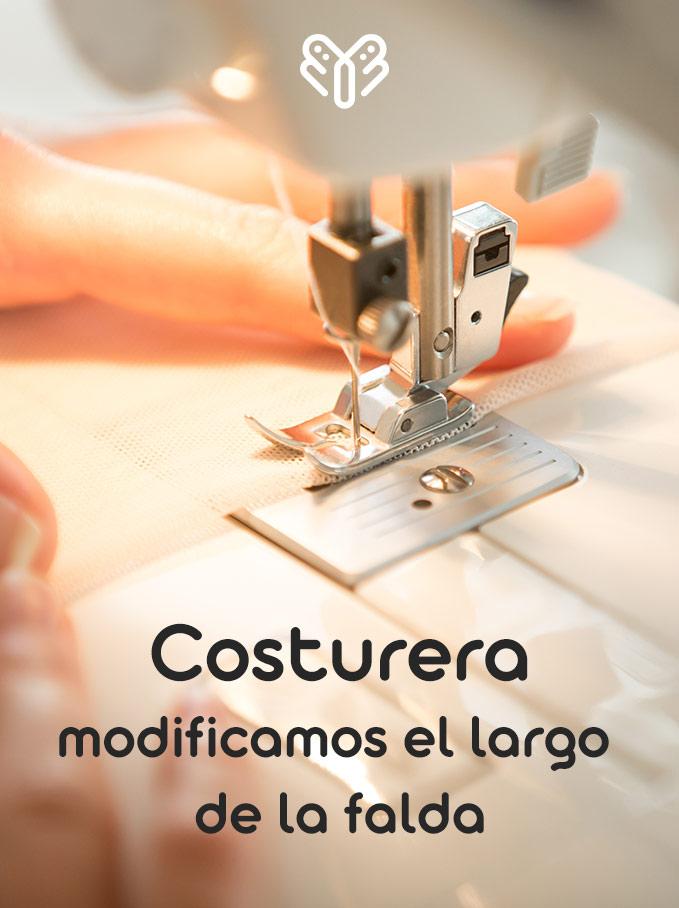 Costurera para modificar largo del vestido de comunión 1